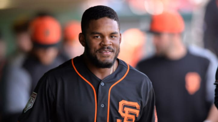 SF Giants prospect Heliot Ramos is one of the many exciting young prospects in the organization. (Orlando Ramirez-USA TODAY Sports)