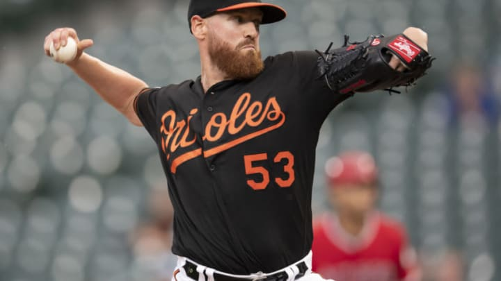 After a disappointing 2019 campaign with the Baltimore Orioles, starting pitcher Dan Straily (53) rebuilt his value with a strong campaign in Korea. (Tommy Gilligan-USA TODAY Sports)