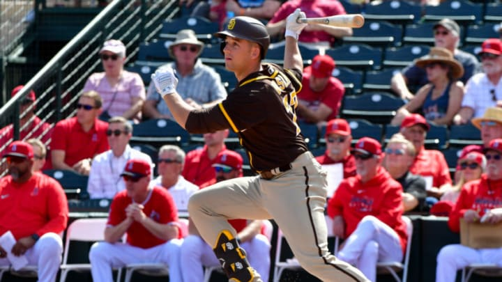 First baseman Jason Vosler signed a major-league contract with the SF Giants this offseason. (Matt Kartozian-USA TODAY Sports)