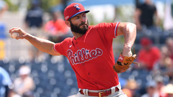 Philadelphia Phillies starting pitcher Jake Arrieta is a free-agent the SF Giants need to avoid. (Jonathan Dyer-USA TODAY Sports)