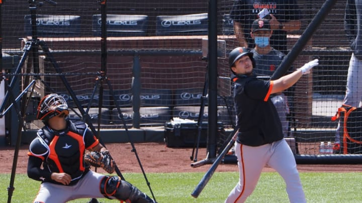 SF Giants prospect Will Wilson during his time at the alternate site. (Kelley L Cox-USA TODAY Sports)