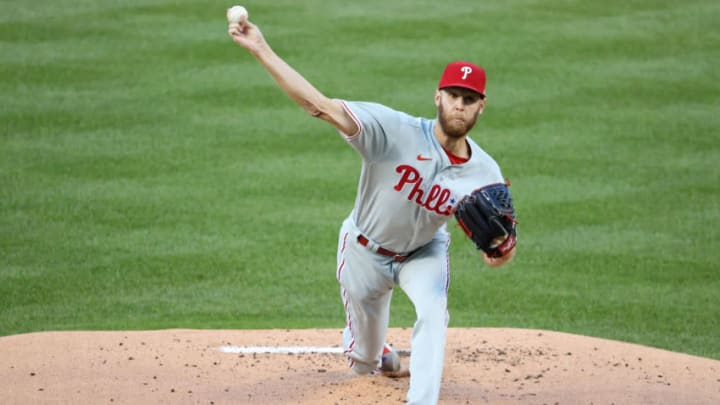 Could Philadelphia Phillies starting pitcher Zack Wheeler return to the SF Giants organization in a trade? (Geoff Burke-USA TODAY Sports)
