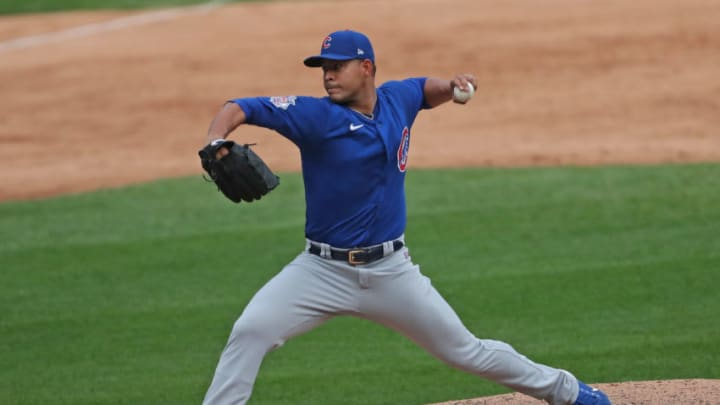 Chicago Cubs starting pitcher Jose Quintana (62) seems like a potential fir with the SF Giants. (Dennis Wierzbicki-USA TODAY Sports)