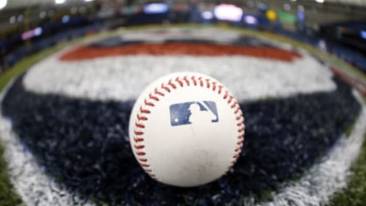 Apr 2, 2017; St. Petersburg, FL, USA; A general view of a Major League Baseball on Opening Day prior to the game between the New York Yankees and Tampa Bay Rays at Tropicana Field. Mandatory Credit: Kim Klement-USA TODAY Sports