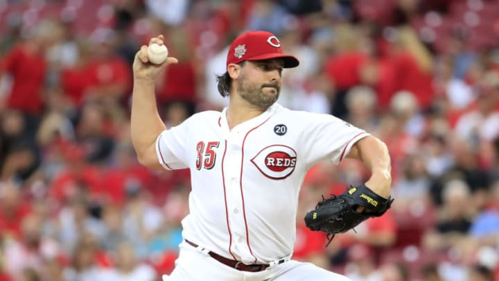 CINCINNATI, OHIO - JULY 30: Tanner Roark #35 of the Cincinnati Reds throws a pitch. (Photo by Andy Lyons/Getty Images)