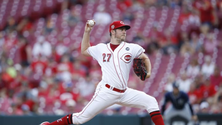 CINCINNATI, OH - AUGUST 19: Trevor Bauer #27 of the Cincinnati Reds (Photo by Joe Robbins/Getty Images)