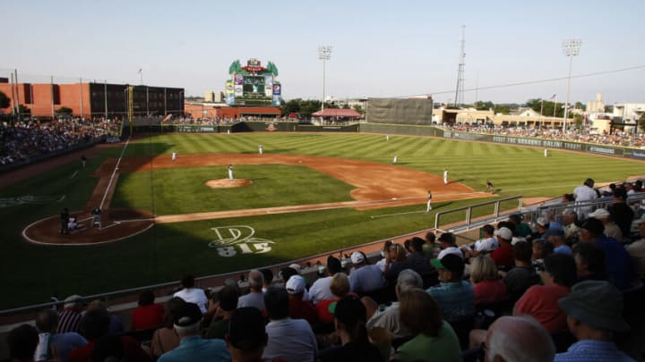 DAYTON, OH - JULY 9: A sell out crowd of 8688 fans flocked to Fifth Third Field for the game between the Dayton Dragons and the South Bend Silver Hawks. (Photo by John Grieshop/Getty Images)