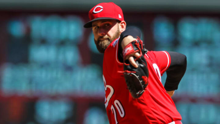 MINNEAPOLIS, MN - JUNE 22: Tejay Antone #70 of the Cincinnati Reds delivers a pitch. (Photo by David Berding/Getty Images)