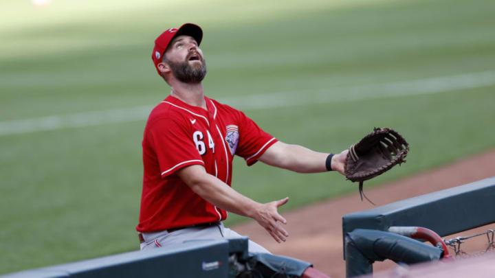 CINCINNATI, OH - JULY 14: Matt Davidson #64 of the Cincinnati Reds (Photo by Joe Robbins/Getty Images)