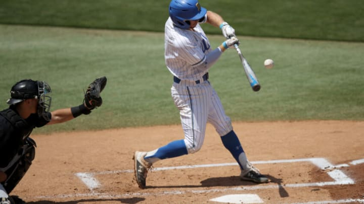 LOS ANGELES, CALIFORNIA - MAY 02: Matt McLain #1 of the UCLA Bruins. (Photo by Andy Bao/Getty Images)