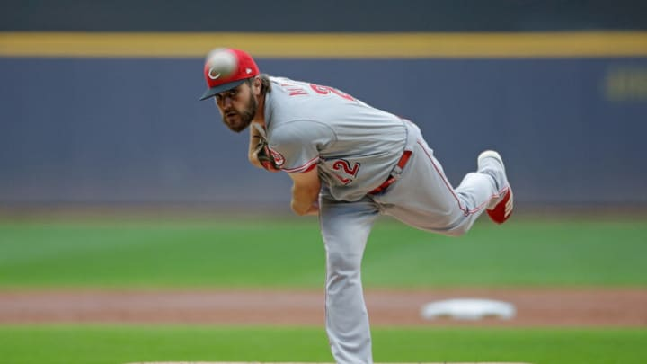 MILWAUKEE, WISCONSIN - JULY 09: Wade Miley #22 of the Cincinnati Reds throws a pitch. (Photo by John Fisher/Getty Images)