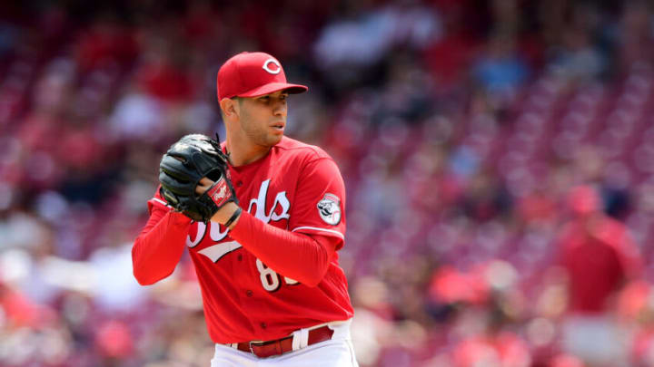 CINCINNATI, OHIO - AUGUST 04: Luis Cessa #85 of the Cincinnati Reds pitches. (Photo by Emilee Chinn/Getty Images)