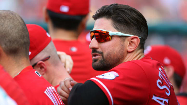 PHILADELPHIA, PA - AUGUST 14: Nick Castellanos #2 of the Cincinnati Reds in action. (Photo by Rich Schultz/Getty Images)