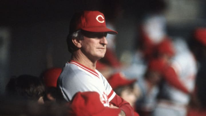 UNSPECIFIED - CIRCA 1981: Manager John McNamara #3 of the Cincinnati Reds (Photo by Focus on Sport/Getty Images)