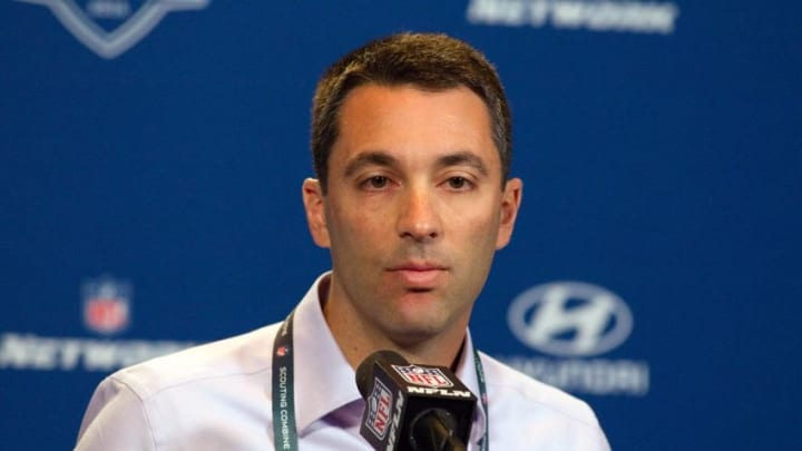 Feb 25, 2016; Indianapolis, IN, USA; San Diego Chargers general manager Tom Telesco speaks to the media during the 2016 NFL Scouting Combine at Lucas Oil Stadium. Mandatory Credit: Trevor Ruszkowski-USA TODAY Sports
