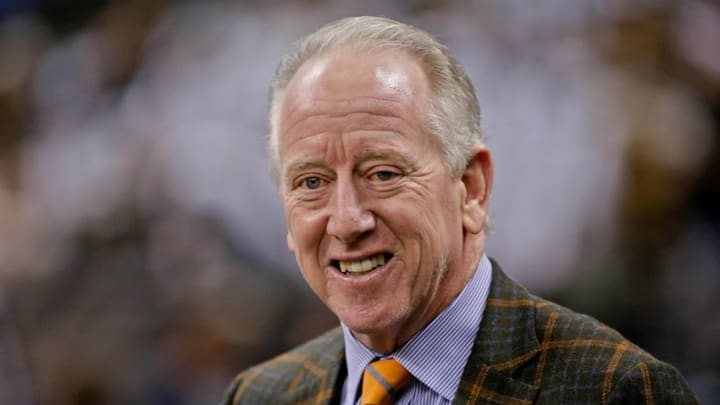 Dec 21, 2015; New Orleans, LA, USA; New Orleans Saints former quarterback Archie Manning on the sideline before a game against the Detroit Lions at the Mercedes-Benz Superdome. Mandatory Credit: Derick E. Hingle-USA TODAY Sports