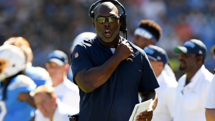 CARSON, CALIFORNIA – OCTOBER 06: Head coach Anthony Lynn of the Los Angeles Chargers on the sidelines during a 20-13 loss to the Denver Broncos at Dignity Health Sports Park on October 06, 2019, in Carson, California. (Photo by Harry How/Getty Images)