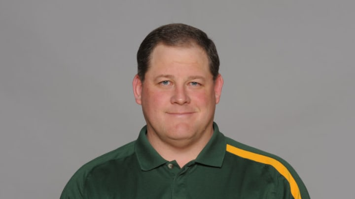 GREEN BAY, WI - CIRCA 2011: In this handout image provided by the NFL, James Campen of the Green Bay Packers poses for his NFL headshot circa 2011 in Green Bay, Wisconsin. (Photo by NFL via Getty Images)