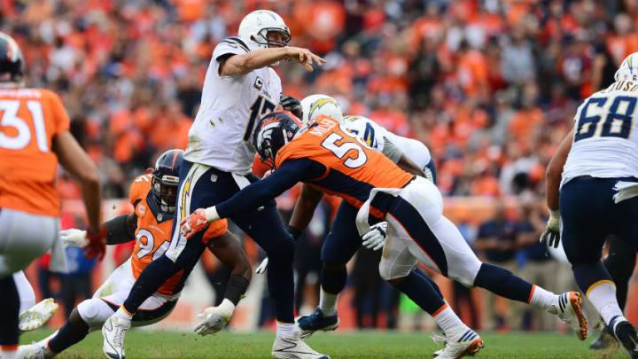 DENVER, CO - OCTOBER 30: Quarterback Philip Rivers
