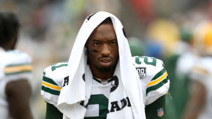 LANDOVER, MD - SEPTEMBER 23: Ha Ha Clinton-Dix #21 of the Green Bay Packers looks on against the Washington Redskins at FedExField on September 23, 2018 in Landover, Maryland. (Photo by Rob Carr/Getty Images)