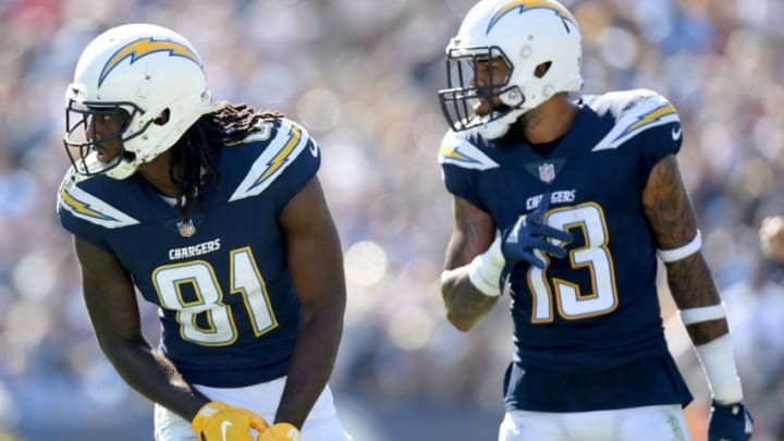 Mike Williams #81 and Keenan Allen #13 of the Los Angeles Chargers (Photo by Harry How/Getty Images)