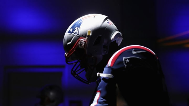 FOXBOROUGH, MA - OCTOBER 04: Trent Brown #77 of the New England Patriots stands in the tunnel before the game against the Indianapolis Colts at Gillette Stadium on October 4, 2018 in Foxborough, Massachusetts. (Photo by Adam Glanzman/Getty Images)