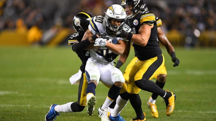 PITTSBURGH, PA - DECEMBER 02: Austin Ekeler #30 of the Los Angeles Chargers rushes the ball the Pittsburgh Steelers in the second half during the game at Heinz Field on December 2, 2018 in Pittsburgh, Pennsylvania. (Photo by Joe Sargent/Getty Images)