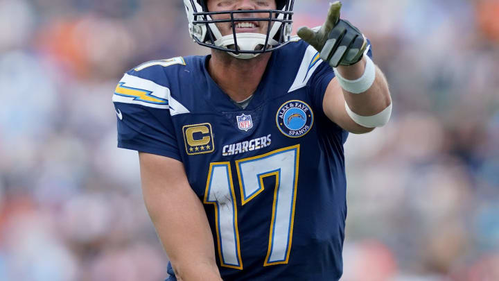 CARSON, CA – DECEMBER 09: Philip Rivers #17 of the Los Angeles Chargers calls a play during the game against the Cincinnati Bengals at StubHub Center on December 9, 2018 in Carson, California. (Photo by Harry How/Getty Images)