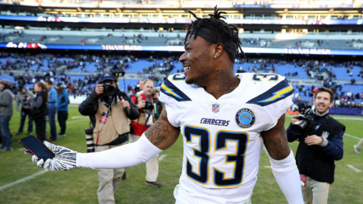 Derwin James of the LA Chargers (Photo by Patrick Smith/Getty Images)