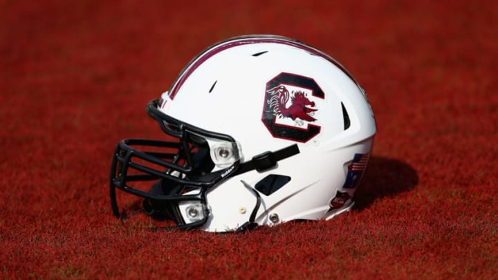 COLUMBIA, SC - AUGUST 29: A general view of a helmet before the game betwen the North Carolina Tar Heels and South Carolina Gamecocks at Williams-Brice Stadium on August 29, 2013 in Columbia, South Carolina. (Photo by Streeter Lecka/Getty Images)