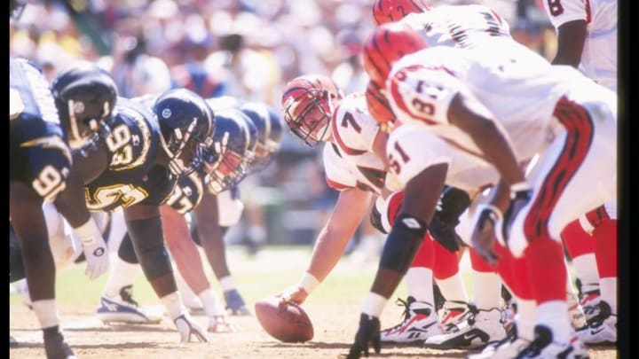 8 Sep 1996: General view of a game between the Cincinnati Bengals and the San Diego Chargers at Jack Murphy Stadium in San Diego, California. The Chargers won the game, 27-14. Mandatory Credit: J.D. Cuban /Allsport