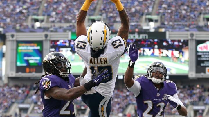 BALTIMORE, MD – NOVEMBER 01: Wide receiver Keenan Allen