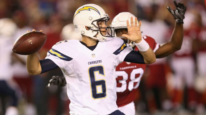 SAN DIEGO, CA – AUGUST 19: Quarterback Mike Bercovici Photo by Stephen Dunn/Getty Images