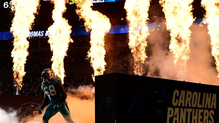 CHARLOTTE, NC – NOVEMBER 17: Thomas Davis #58 of the Carolina Panthers runs onto the field for a game against the New Orleans Saints at Bank of America Stadium on November 17, 2016 in Charlotte, North Carolina. (Photo by Mike Comer/Getty Images)