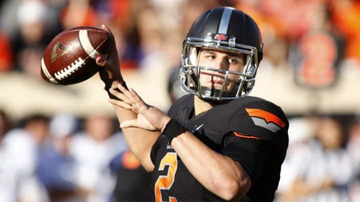 STILLWATER, OK - NOVEMBER 7 : Quarterback Mason Rudolph