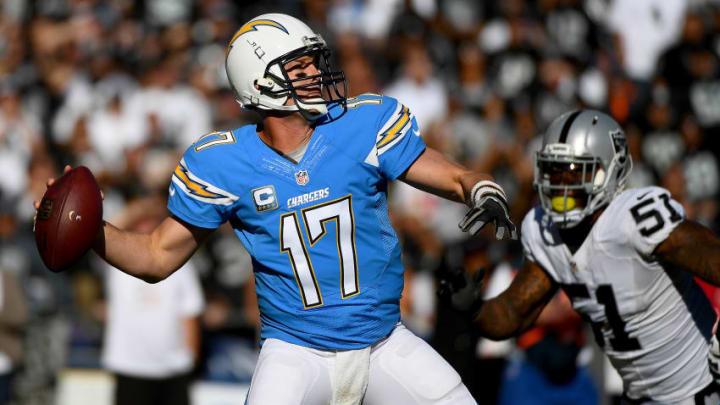 SAN DIEGO, CA - DECEMBER 18: Quarterback Philip Rivers