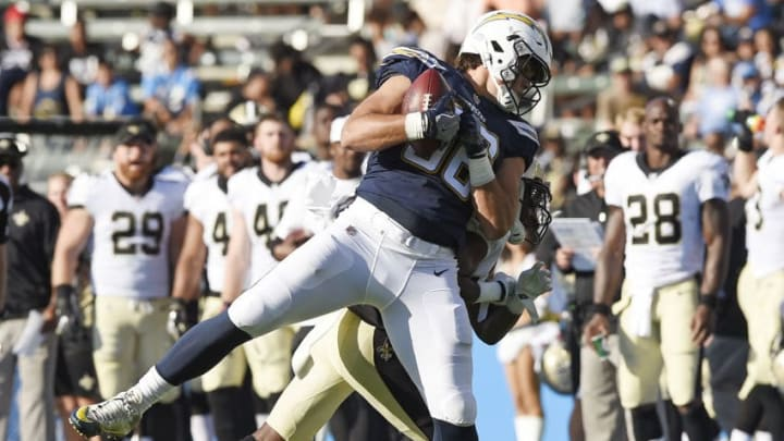 CARSON, CA - AUGUST 20: Tight end Hunter Henry