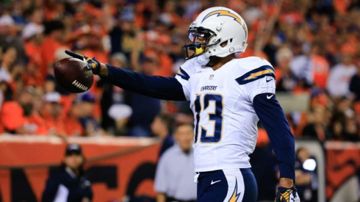 DENVER, CO - OCTOBER 23: Wide receiver Keenan Allen