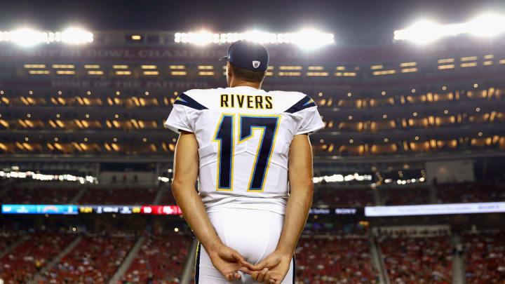 SANTA CLARA, CA – AUGUST 31: Philip Rivers