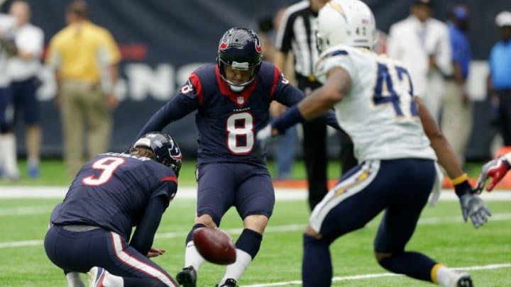 HOUSTON, TX - NOVEMBER 27: Nick Novak