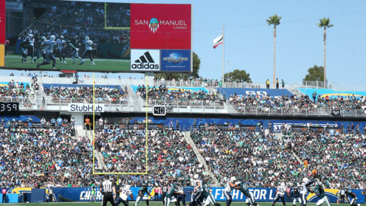 CARSON, CA - OCTOBER 01: A genreral view during the game between the Los Angeles Chargers and the Philadelphia Eagles at StubHub Center on October 1, 2017 in Carson, California. (Photo by Stephen Dunn/Getty Images)