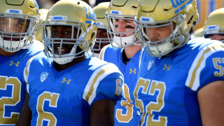 PASADENA, CA - OCTOBER 21: Josh Rosen #3 of the UCLA Bruins waits before the game against the Oregon Ducks at Rose Bowl on October 21, 2017 in Pasadena, California. (Photo by Harry How/Getty Images)