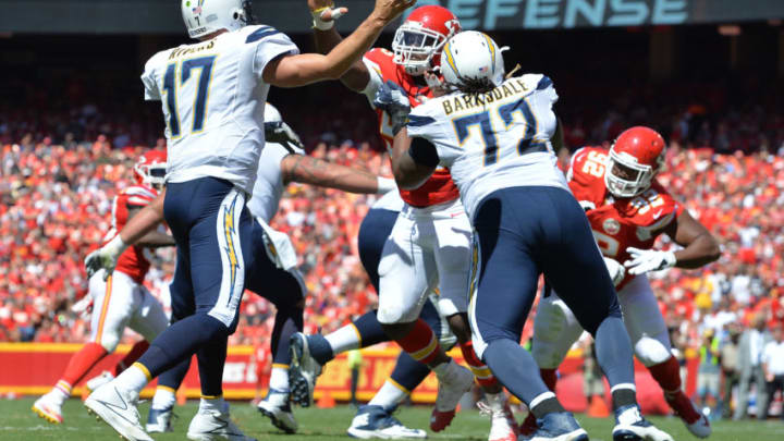 KANSAS CITY, MO - SEPTEMBER 11: Quarterback Philip Rivers