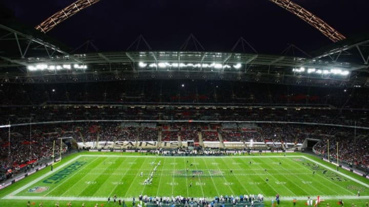 LONDON - OCTOBER 26: A general view during the Bridgestone International Series NFL match between San Diego Chargers and New Orleans Saints at Wembley Stadium on October 26, 2008 in London, England. (Photo by Paul Harding - Pool/Getty Images)