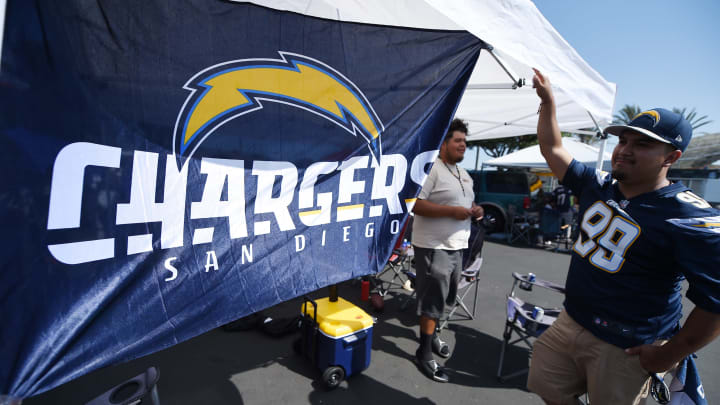 CARSON, CA – AUGUST 13: Fans tailgate before the start of Los Angeles Chargers make their StubHub Center debut against the Seattle Seahawks August 13, 2017, in Carson, California. (Photo by Kevork Djansezian/Getty Images)