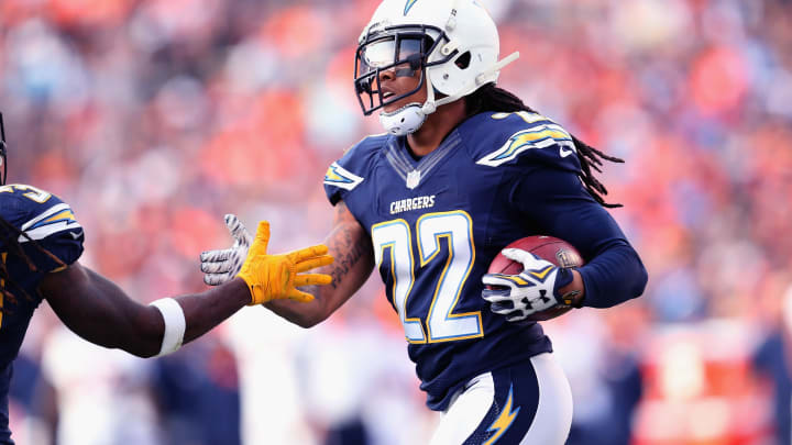 SAN DIEGO, CA – DECEMBER 06: Cornerback Jason Verrett #22 of the San Diego Chargers celebrates after intercepting a pass in the third quarter against the Denver Broncos at Qualcomm Stadium on December 6, 2015 in San Diego, California. The Broncos won 17-3. (Photo by Stephen Dunn/Getty Images)
