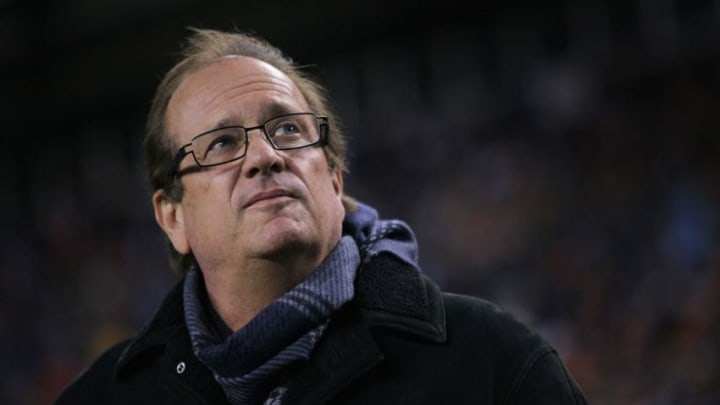 DENVER - JANUARY 02: Dean Spanos, President and CEO of the San Diego Chargers, looks on from the sidelines late in the game against the Denver Broncos at INVESCO Field at Mile High on January 2, 2011 in Denver, Colorado. The Chargers defeated the Broncos 33-25. (Photo by Doug Pensinger/Getty Images)