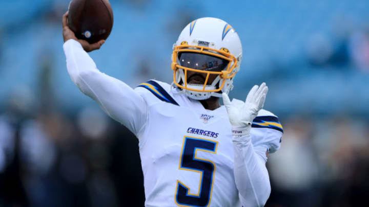 Tyrod Taylor #5 of the Los Angeles Chargers (Photo by Sam Greenwood/Getty Images)