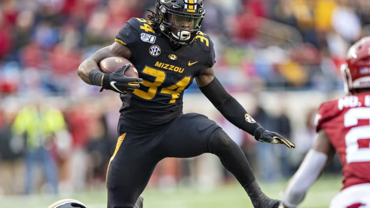 Larry Rountree III #34 of the Missouri Tigers (Photo by Wesley Hitt/Getty Images)