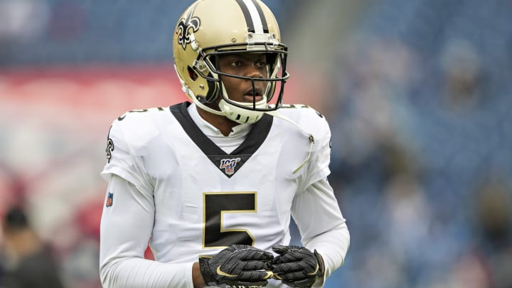 NASHVILLE, TN – DECEMBER 22: Teddy Bridgewater #5 of the New Orleans Saints warms up before a game against the Tennessee Titans at Nissan Stadium on December 22, 2019, in Nashville, Tennessee. The Saints defeated the Titans 38-28. (Photo by Wesley Hitt/Getty Images)